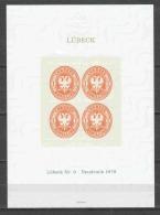 Germany Lubeck Mi 9 Neudruck 1978