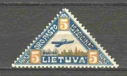 Lithuania 1922 Mi 120-I-II MH AIRPLANE