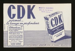 Buvard - CDK - Un Produit LESIEUR - L