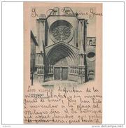 TGNTPA2403CPA-LFT1067TBES.Tarjea Postal De TARRAGONA.ARTE.Arquitectura.Escultura.PORTADA DE LA CATEDRAL De Tarragona - Esculturas
