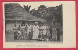 Congo Français -Missions Des Pères Du St-Esprit -Premiers Baptisés Et Confirmés De La Mission De Kialou (voir Verso) - Congo Français - Autres