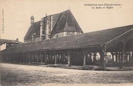Châtillon Sur Chalaronne 01 - Halles Et Eglise - 1912 - Châtillon-sur-Chalaronne