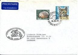 Sweden Cover Sent To Denmark Stockholm 18-2-1996 Topic Stamp CAT - Sweden