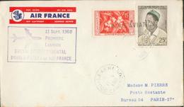 Aérogramme -  1er Liaison Boeing Douala Paris Par Air France - Luftpost