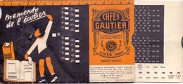 Pub Reclame - Cafés Gautier - Lille - Memento De L' écolier - - Publicidad