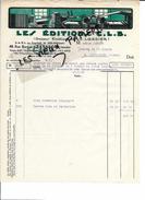25 - Doubs - BESANCON - Facture EDITIONS C.L.B. (ex. LARDIER) - 1930 - REF 60B - France