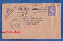 Enveloppe Ancienne De 1948 - LONDON S.W. , UK - Beau Cachet - On His Majesty's Service - 1902-1951 (Rois)