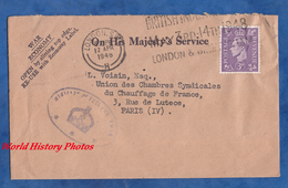 Enveloppe Ancienne De 1948 - LONDON S.W. , UK - Beau Cachet - On His Majesty's Service - 1902-1951 (Könige)