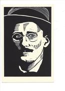16397 -  James Joyce Par Linoleum Cut By Rachael Romero - Musique Et Musiciens