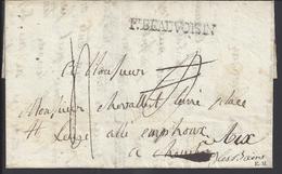 France / Sardaigne - Pli Du 22 Mai 1825 - Pont De Beauvoisin - Déboursé Sarde - Retrodato - Chambéry Pour Aix Les Bains. - 1801-1848: Precursors XIX
