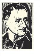 16399 -  Brecht Poète Par Linoleum Cut By Rachael Romero - Musique Et Musiciens