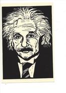 16400 -  Einstein Physicist Par Linoleum Cut By Rachael Romero - Musique Et Musiciens