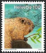 Schweiz Suisse 2012: -Michel-Nr.2242 Zumstein-Nr.1421 - Biber - Castor - Beaver ** MNH - Nager
