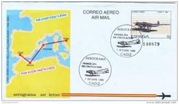 España Aerograma Nº 214 USADO - Enteros Postales
