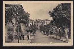 CALTANISSETTA - Via Cavour - Gradinata Silvio Pellico - Ed. G. Calogero - Caltanissetta
