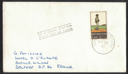 AZ358    Ireland Letter FDC Painter Jack B.Yeats 1971 By Baile Atha Cliath In Belfort France - Storia Postale