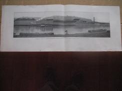 PHOTO-GRAVURE De Jean MALVAUX Panorama Usines Des ATELIERS DE CONSTRUCTION DE LA MEUSE A LIEGE - Fabrication Locomotives - Ohne Zuordnung