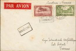 Aérogramme -  Casablanca Vincennes (Ligue Internationale Aérophilatélique) - Luftpost