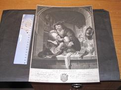 Johann Elias Haid Sculp. - Franz Mieris  Pinxit - DER WUND = ARTZT - XVIII E Siècle. - Prenten & Gravure