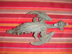 A Cienne Gargouille En Bronze  Dragon 25cm De Long15cm De Large - Populaire Kunst