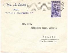 ING. A. CAIANI MILANO - 6. 1946-.. Repubblica