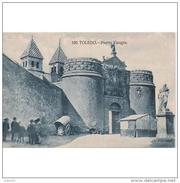 TLDTPA2704CPA-LFT1930TBES .Tarjeta Postal DE TOLEDO.ARTE.Murallas,carro,personas,escultura.PUERTA DE VISAGRA En Toledo - Esculturas
