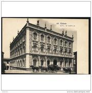 TLDTPA2709CPA-LFT49THOT.Tarjeta Postal DE TOLEDO.Escultura.Coche De Caballos Y  HOTEL CASTILLA.Toledo. - Hoteles & Restaurantes