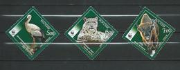 Russia 2007 WWF - Rare Animals.Mammals/Cattle.Leopards.STORK.Birds.MNH - 1992-.... Federation