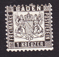 Baden, Scott #19, Mint Hinged, Coat Of Arms, Issued 1862 - Baden