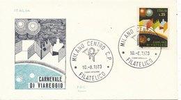F.D.C. -   ROSSETTI -       CARNEVALE Di VIAREGGIO - 1973 (210110) - 6. 1946-.. Repubblica