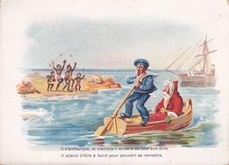 CHROMO - Publicite - Au Bon Marché - Père Noël - Il S'embarque.....4 - Au Bon Marché