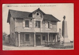 1 Cpa Doazit Mairie Et Monument Aux Morts - Sonstige Gemeinden