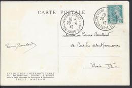 FR - 1942 - Carte Postale L'Europe Contre Le Bolchévisme - Paris Exposition Internationale - Propagande - Nazisme - B/TB - Frankreich