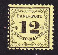 Baden, Scott #LJ3, Mint Never Hinged, Number, Issued 1862 - Baden