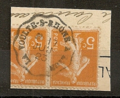 Convoyeur LA VOULTE S RHONE A LYON Sur Semeuse. 1923. - Marcofilia (Sellos Separados)