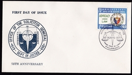 Philippines: FDC First Day Cover, 1977, 1 Stamp, Sollicitor General, Justice, Law, Advocacy (traces Of Use) - Filippijnen