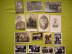 Lot D'une Quinzaine De Photos N & B Anciennes Militaires Même Provenance Formats Divers - Guerra, Militares