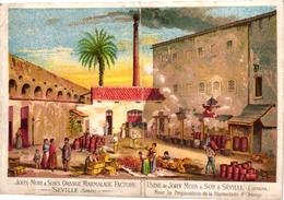 1878   1 Trade Card  ESPAGNE   SPAIN Pub   John Moir Orange Marmelade Factory SEVILLE - España