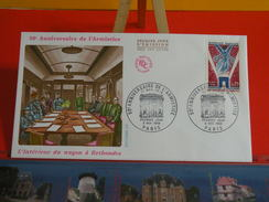 France > FDC > 1960-69 > Anniversaire De L'Armistice Rethondes - Paris - 9.11.1968 - 1er Jour FDC-Coté 2,20 € - 1960-1969