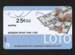 GIFT CARD - Carte Cadeau Auchan - LOTO - 25 € - SCPPW - Cartes Cadeaux