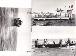 SENEGAL - 7 EME RPIMA RPC REGIMENT DE PARACHUTISTES - MANOEUVRE EN MER - ANNEES 1960 - LOT DE 3 PHOTOS - MILITAIRE - Guerre, Militaire