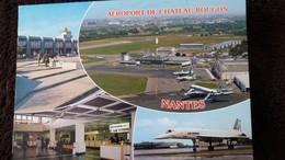 CPSM AEROPORT DE NANTES CHATEAU BOUGON AVION AIR FRANCE 1987 - Aerodrome