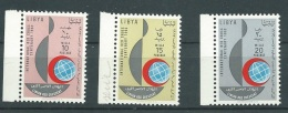Libye     Yvert N° 216 / 218 , 3 Valeurs   **  Bord De Feuille     Aab9204 - Libya