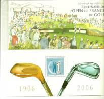 Bloc Souvenir N° 13** Sous Pochette:Golf,Centenaire De L'Open De France - Blocs Souvenir