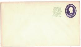 AZ362   USA POSTAL STATIONARY COVER 3c Washington + 1c Surcharge Unused - Interi Postali