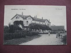 CPA 71 CHARETTE VARENNES Ex CHARETTE Les Ecoles RARE & ANIMEE 1912 Canton PIERRE DE BRESSE - France