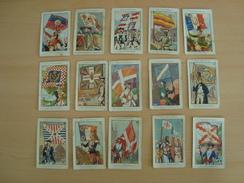 Lot De 15 Images Collection BOZON-VERDURAZ DRAPEAUX FRANCAIS - Chromos