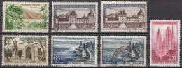 FRANCE 1957 - LOT - Y.T. 1125 / 1128 X 2 / 1129 / 1130 / 1131 X 2 - 7 TP OBLITERES - Francia