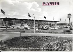 Lazio Roma Fiumicino Aeroporto Intercontinentale Veduta Esterno Auto D'epoca Zona Sosta Pulman Auto D'epoca Anni 60 - Aerodromi