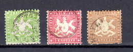 Armoirie, 25-26-28, Cote 105 €, - Wurttemberg